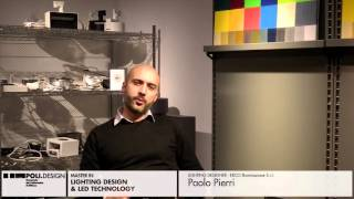 [Lighting Design & Led Technology] Student interview - Paolo Pierri