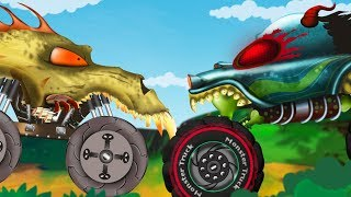 Haunted House Monster Truck Cartoon - The Burglar | Car Stories For Children by Kids Channel
