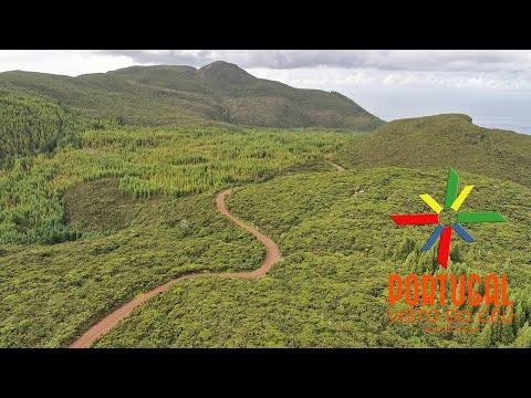 Terra Brava aerial view - Terceira Island Azores - 4K Ultra HD