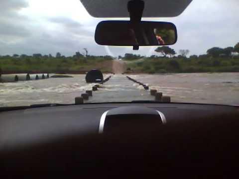 Dangerous crossing of the Crocodile River at Krüger
