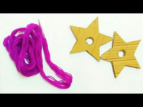 Star Pom Pom|| easy woollen  pom pom making||