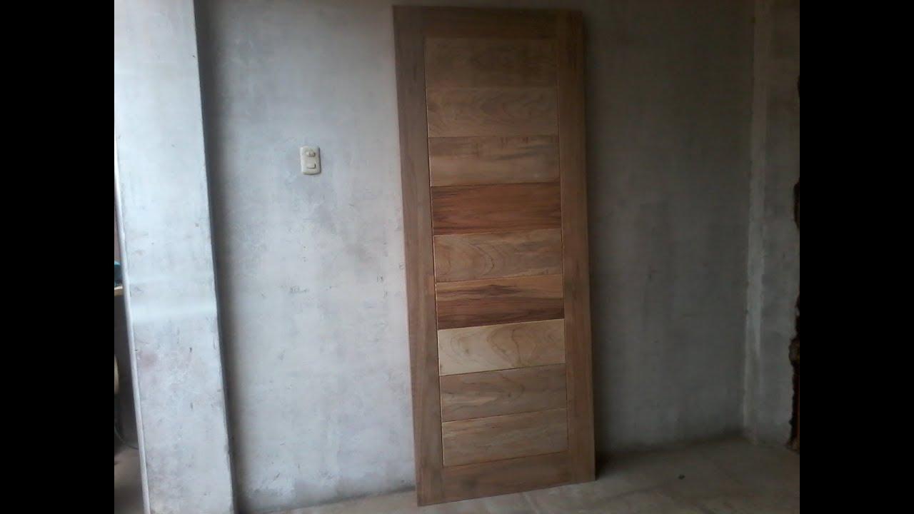 como hacer puerta de madera para dormitorio youtube