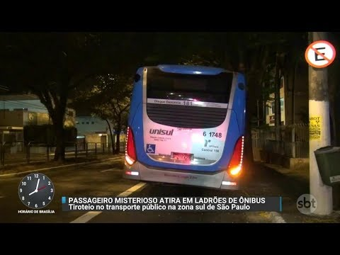 Polícia tenta identificar homem que atirou em assaltantes em ônibus | Primeiro Impacto (11/10/17)
