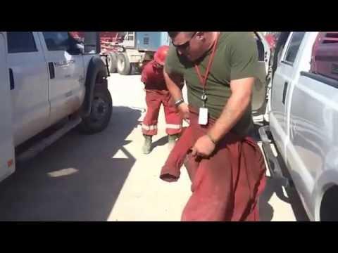 Crazy Oilfield Prank Midland Odessa Texas -  Horny Toad Prank