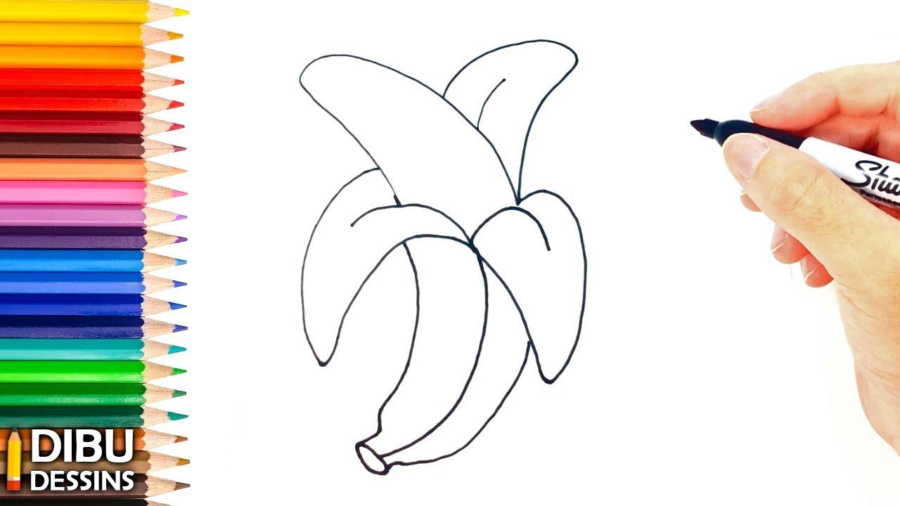 Comment dessiner une banane tape par tape youtube - Dessiner un fruit ...