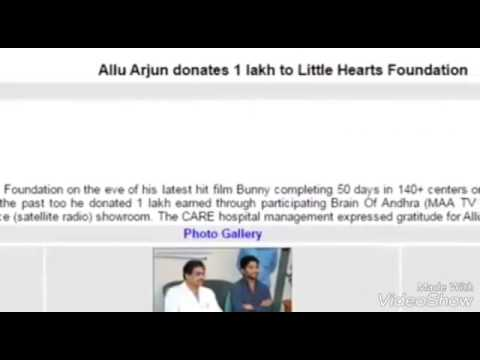 AlluArjun in Real life makes you feel proud to fan of him