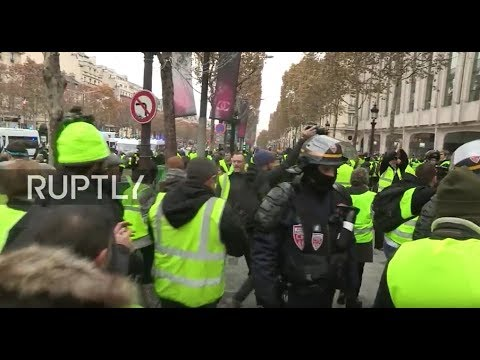 LIVE: 'Yellow vest' protesters rally and blocks roads against fuel tax in Paris