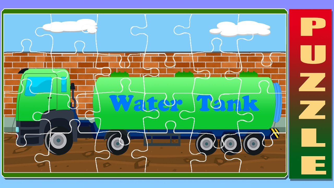puzzle water tank truck game for children youtube. Black Bedroom Furniture Sets. Home Design Ideas