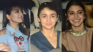 Phillauri Movie Special Screening | Alia Bhatt, Sonakshi Sinha, Anushka Sharma