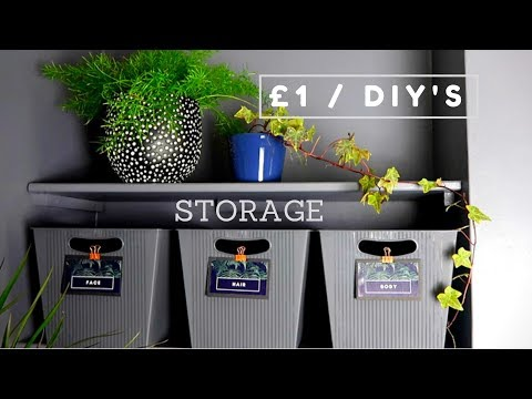 POUNDLAND / DOLLAR STORE DIY STORAGE | £1 DIY DECOR HACK 2018