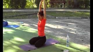 Катя Степанова, Янтра йога, 1-е занятие 06.09.11, Yoga Open Air