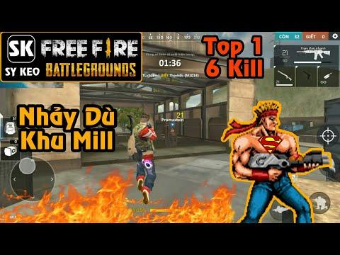 Garena Free Fire] Top 1 Nhảy Dù Khu Mill | Sỹ Kẹo - Full