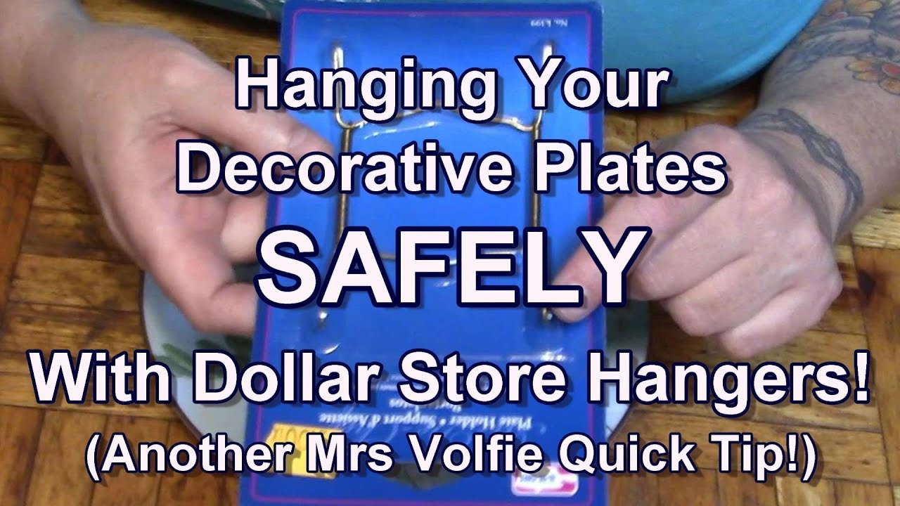 Plate Hangers For Decorative Plates (Another Quick Tip)  sc 1 st  YouTube & Plate Hangers For Decorative Plates (Another Quick Tip) - YouTube
