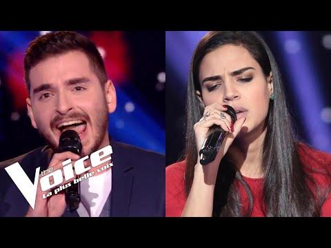 Peter Gabriel & Kate Bush - Don't Give Up | Lorrah Cortesi vs Gabriel | The Voice France...