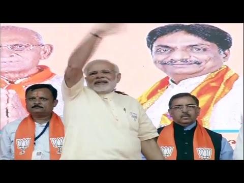 PM Shri Narendra Modi addresses public meeting in Mehsana, Gujarat :  09.12.2017