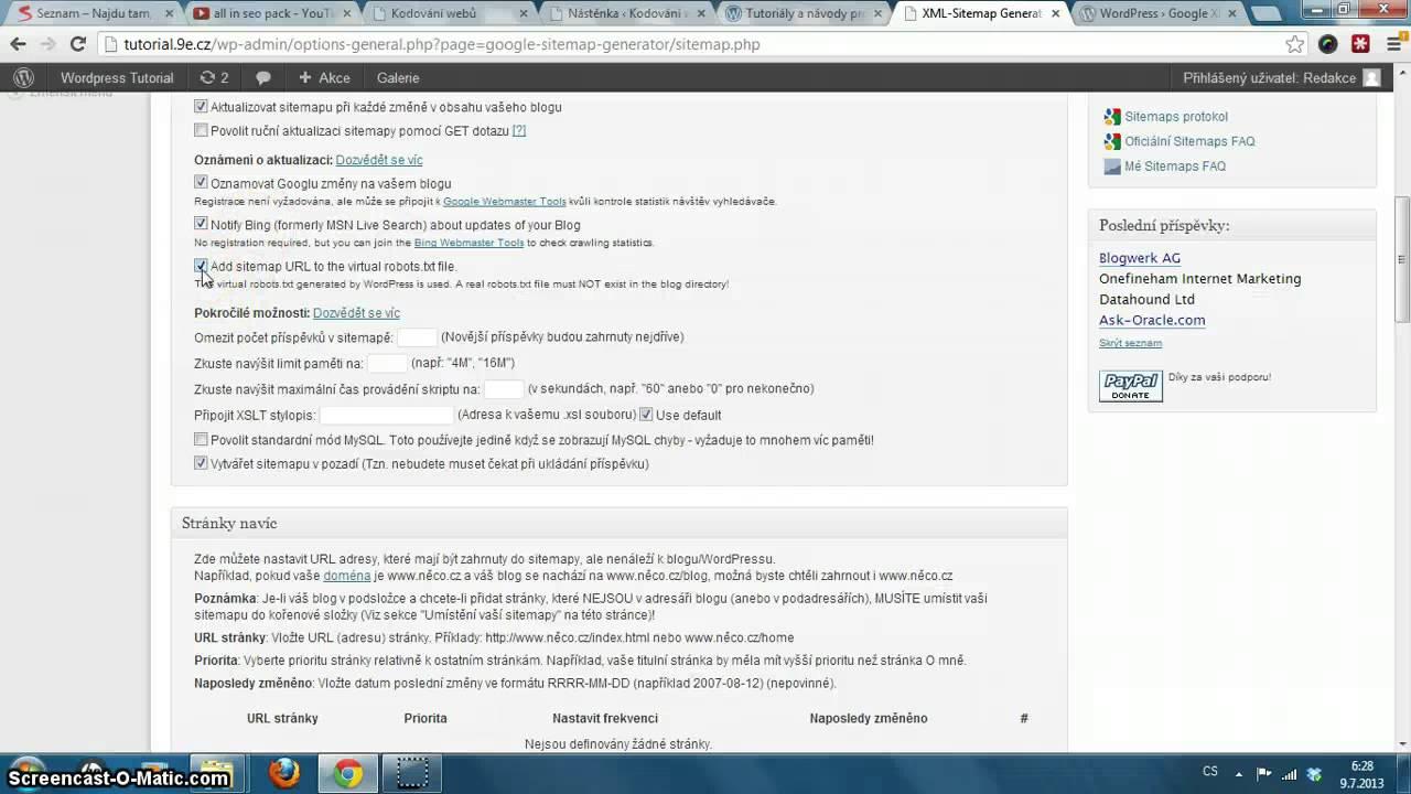 xml sitemap pro wordpress youtube