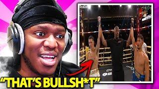 KSI Reacts To AnEsonGIB VS Tayler Holder *FULL FIGHT*