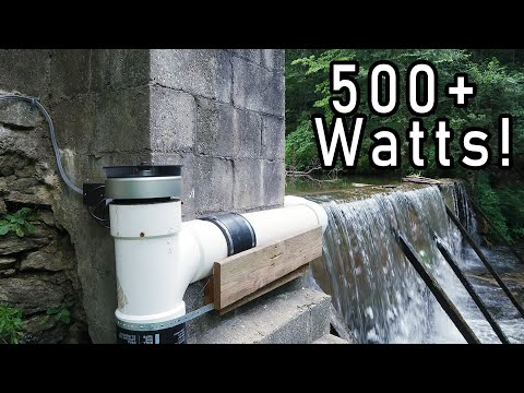 Awesome Low Head High Flow Grid Tie Micro Hydro 530 watts!