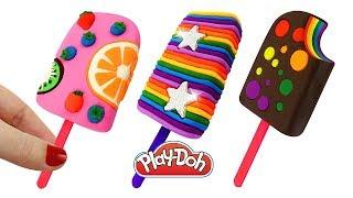 Поделки из пластилина Плей До – Лепим Мороженое и Учим Цвета. Learn Colors with coloring Play Doh