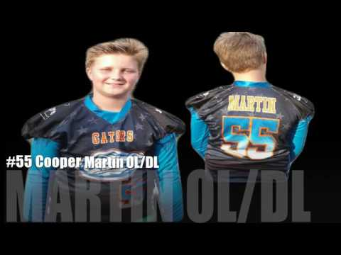 #55 Cooper Martin of the 2016 lakeland Gators Midget Football Team