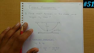 Structural analysis-2 Cables and suspension bridge numerical-1
