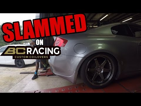 Infiniti G35 Gets SLAMMED on BC Racing Coilovers BR Series Install