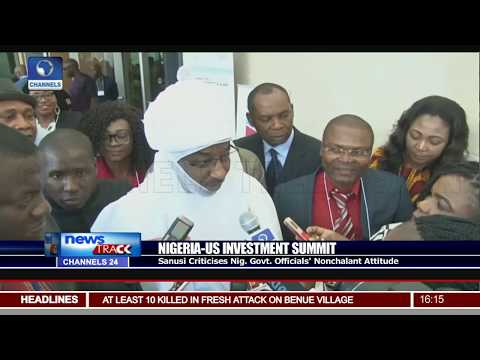 Emir Sanusi Lambasts Nigerian Ministers For Missing Meeting With Investors Washington