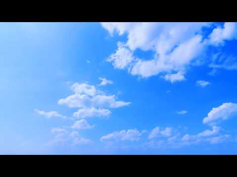Deep blue sky background. Video footage. For green screen effects thumbnail