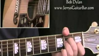 How To Play Bob Dylan You Ain't Goin' Nowhere (full lesson)