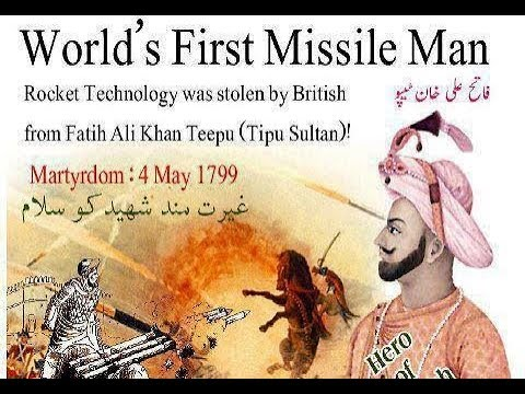 Tipu Sultan Tiger Of Mysore first missile man