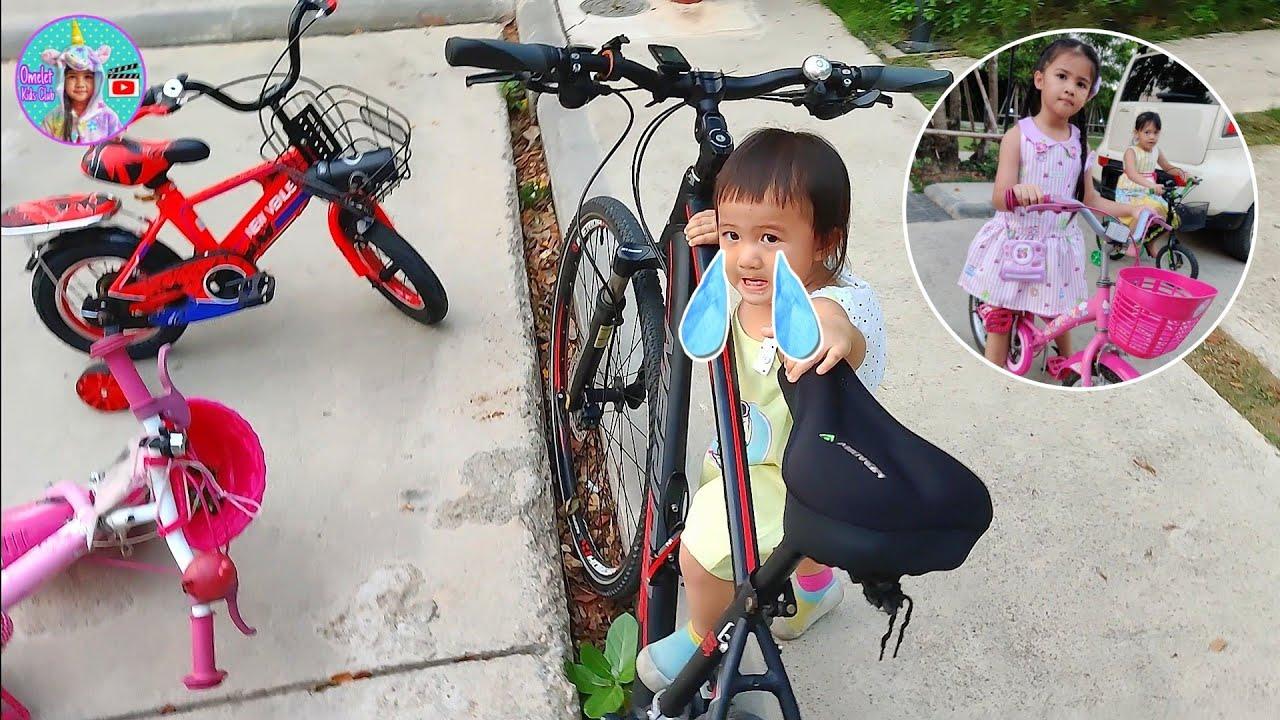 น้องออมเล็ต ใส่ชุดสวยปั่นจักรยาน ไปเตะบอล ปั่นจักรยานหนีน้องเฌอเบ็ท