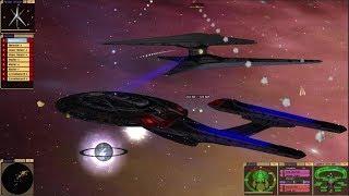 Star Trek Bridge Commander: Future Sovereign vs Cylon Fleet!