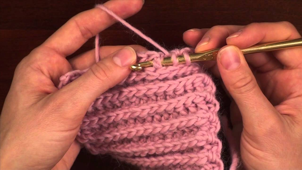 Crochet Stitch Variations: Front Post Half Double Crochet - YouTube