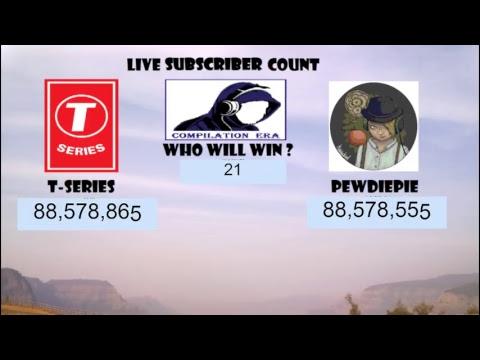 T-Series Vs PewDiePie Live Subscriber Count Mp3