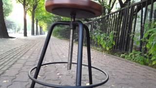 안스퍼니처 회전 원목 바스툴  bar stool