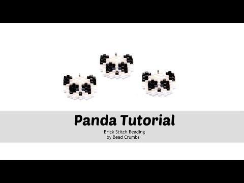 Панда бисером вышивка