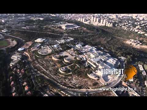 AJ 014E Israel Aerial Footage Library: Jerusalem - Knesset, Israel Museum and Givat Ram