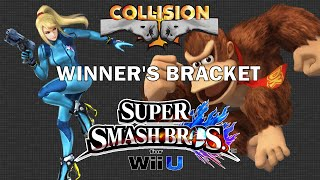 Smash Wii U Tournament - CT Salem (Zero Suit Samus) vs DA Will (Donkey Kong) - Collision X