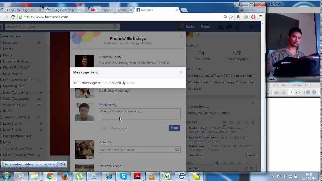 HOW TO WISH YOUR FACEBOOK FRIENDS HAPPY BIRTHDAY FROM HOMEPAGE