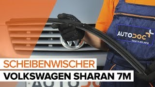 Montage VW SHARAN (7M8, 7M9, 7M6) Axialgelenk Spurstange: kostenloses Video