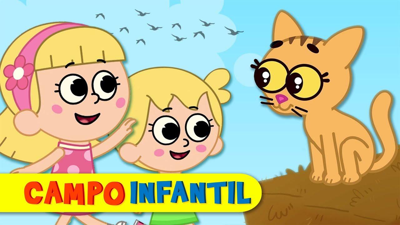 Lindo gatito - Canciones infantiles con Elly y Eva | Campo Infantil