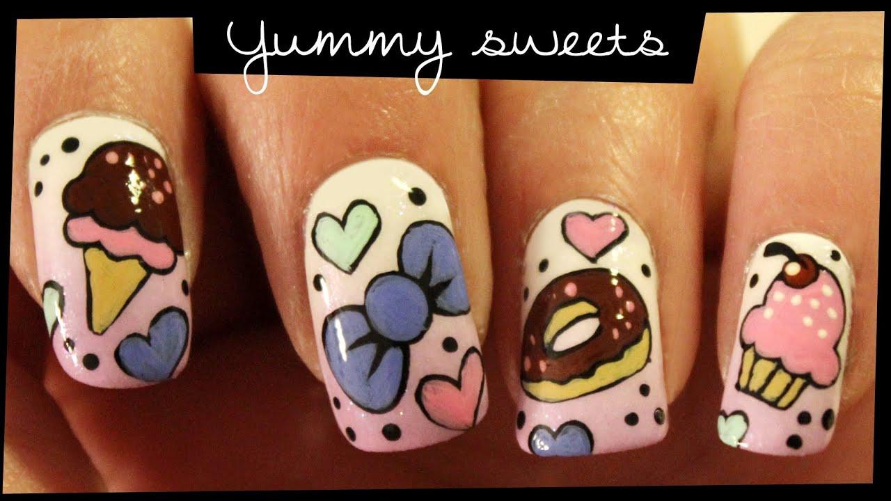 Yummy Sweets Nail Art Youtube