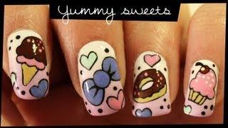 Yummy Sweets Nail Art Tutorial // Pastel Candy Nail Art
