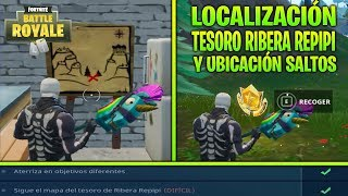 ⛏ LOCALIZACIÓN TESORO RIBERA REPIPI MISIÓN SEMANAL (DIFÍCIL) | FORTNITE BATTLE ROYALE