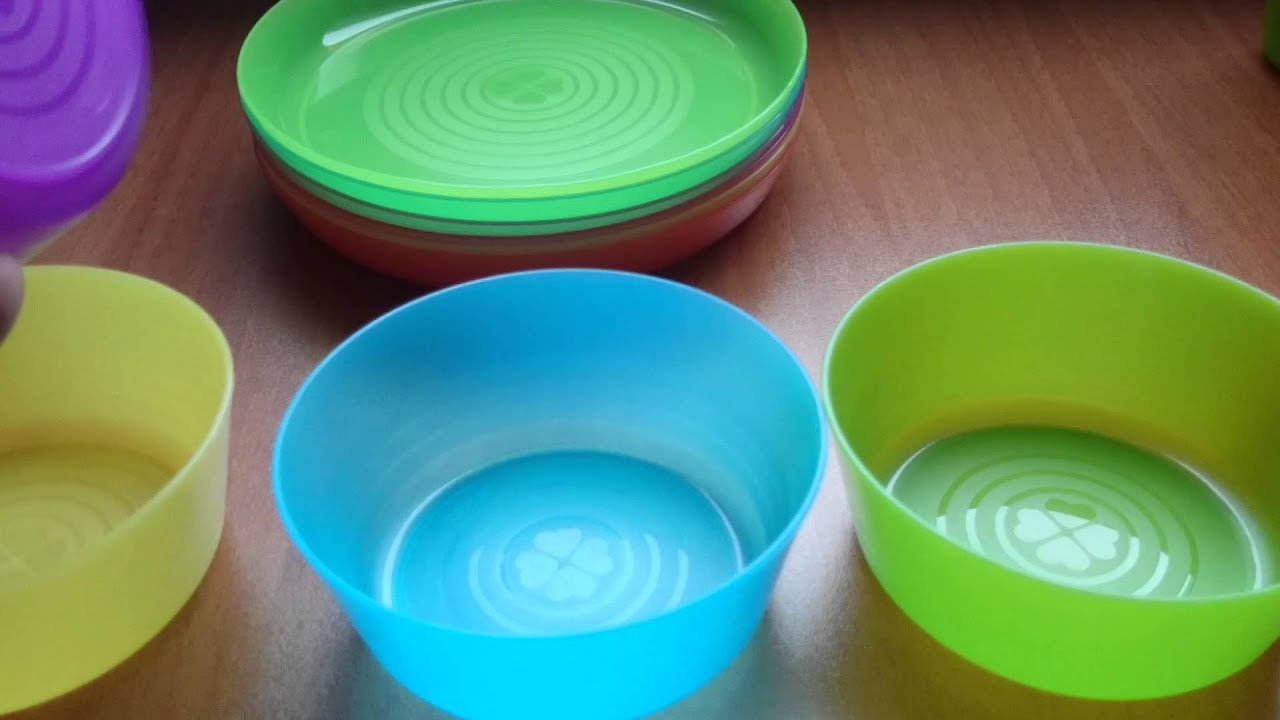 KALAS Cup, bowl, plate from IKEA (only BG sound) - YouTube