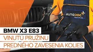 Ako vymeniť Sada brzdových čeľustí na BMW X3 (E83) - video sprievodca