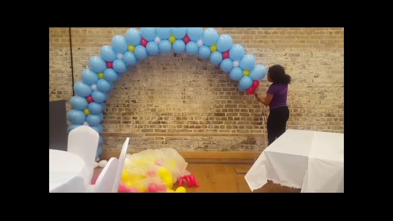 How to make a simple balloon arch