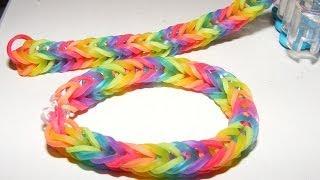 הדרכה - איך לעשות צמידים מגומיות - צמיד קשת Rainbow loom
