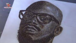 Nghệ sĩ Nam Phi lập kỷ lục Guinness với bức tranh làm từ cà phê