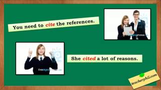 Sight, Site, and Cite: English words to learn